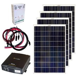 Grape Solar 3 180 Watt Expandable Poly Crystalline Pv Grid Tied Solar Power Kit Gs 3180 Kit The Home Depot Solar Panel Kits Off Grid Solar Panels Solar Kit