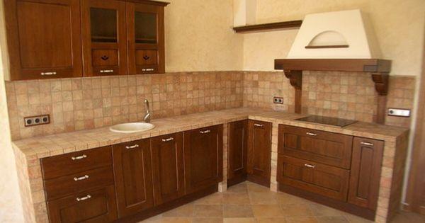 Foto modelo muebles cocina madera rustico kitchen - Muebles cocina rusticos ...