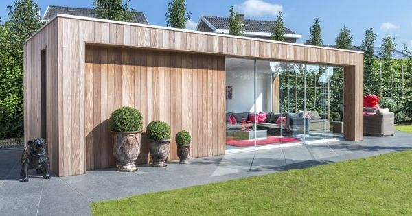 moderne bijgebouwen poolhouses en tuinhuizen producten wood arts tuin pinterest. Black Bedroom Furniture Sets. Home Design Ideas