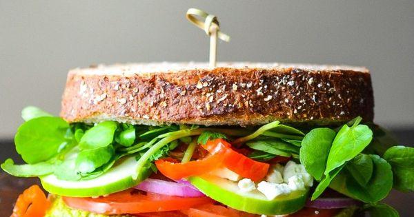 Sandwiches, Vegetarian sandwiches and Veggies on Pinterest