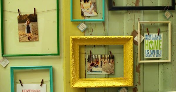 Fun idea for hanging pictures! Islands Framing Gallery in Savannah, GA is