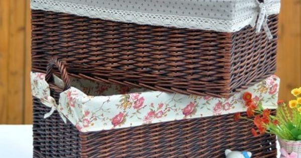 Extra Large The Handle Sinoca Wicker Rattan Laundry Basket