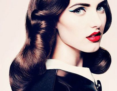 Finger Waves, Cat Eyes and Red Lips. PINUP .
