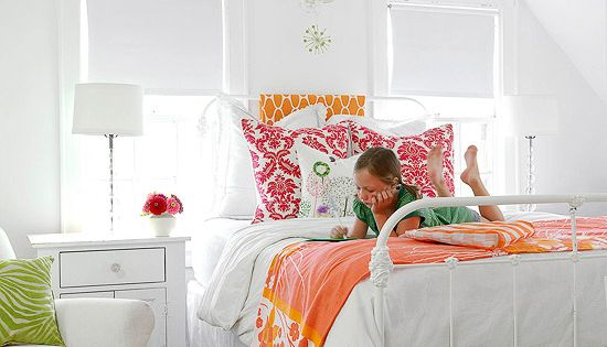 Cozy Cottage, Bold Accents, Girl's Room Style: Similar to the master bedroom,