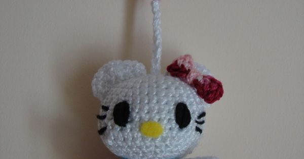 Mini Hello Kitty Amigurumi Patron : Hello Kitty Mini Amigurumi ~ Patron Gratis en Castellano ...