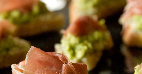 Avocado Prosciutto Crostini | Recipe | Cooking, Avocado ...