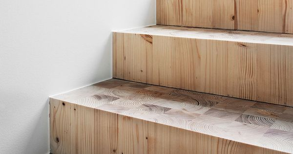 Beautiful wood grain stairs