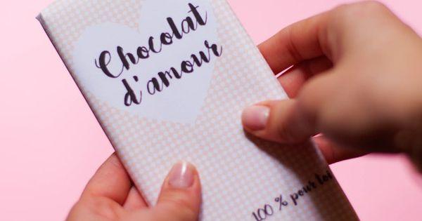 diy une tablette de chocolat pour la saint valentin food diy love pinterest. Black Bedroom Furniture Sets. Home Design Ideas