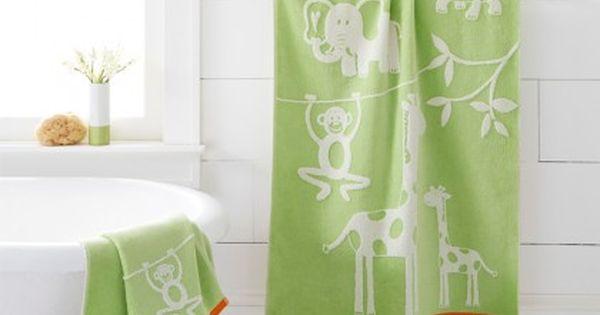 Kassa Kids Jungle Bath Towel Towels Kids Printed Shower Curtain Bath Towels