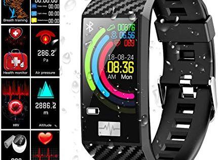 Fitness Armband Qimaoo Fitness Tracker Mit Pulsmesser Wasserdicht Ip68 Fitness Uhr Farbbildschirm Sportuhr 114 Zoll Aktivi Fitness Armband Sportuhr Fitness Uhr