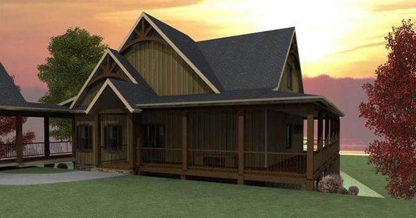3 bedroom open floor plan with wraparound porch and for House plans walkout basement wrap around porch