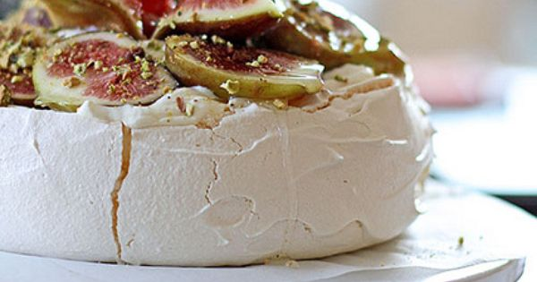 Figs, Ginger Syrup and Crushed Pistachio Pavlova Recipe