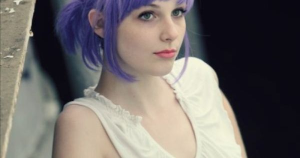 Short hair Style Guide and Photo: 2014 Purple Hair Color for women