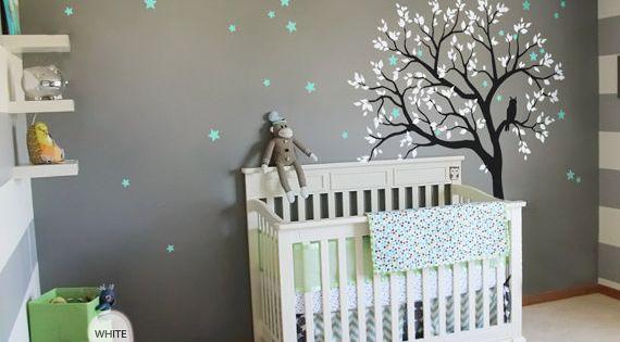 Baby Nursery Tree Wall Decal Wall Sticker - Owl Tree Wall Decal