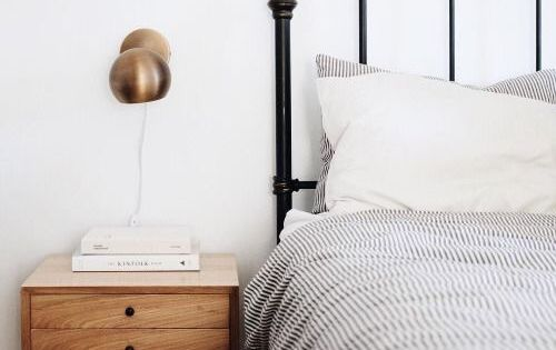 5 reasons why i love decorating a bedroom with a wrought iron bed ticking stripe and metal beds - Reasons choose wrought iron bed ...