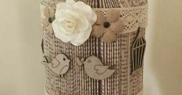 birdcage papier livres pinterest messages et cages oiseaux. Black Bedroom Furniture Sets. Home Design Ideas