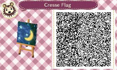 Crescent Moon Flag Qr Codes Animal Crossing Qr Codes Animals