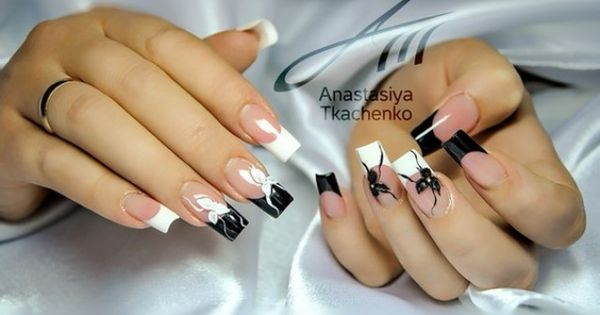 anastasiya besondere french nails motive gel fingern gel beispiele nageldesign bilder by world. Black Bedroom Furniture Sets. Home Design Ideas