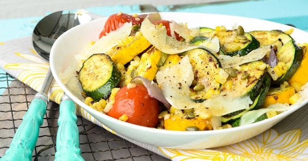 grilled summer squash with cumin lime vinaigrette...pinned for the vinaigrette recipe