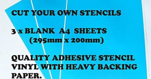 make your own stencils DIY Pinterest Stenciling, Craft and Adhesive