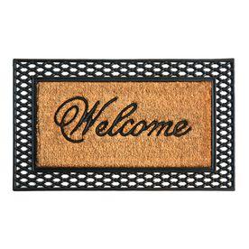 Style Selections Black Rectangular Door Mat Common 2 Ft X 3 Ft Actual 23 75 In X 39 In Jj 2p Pr1 003 Indoor Door Mats Door Mat Front Door Mats