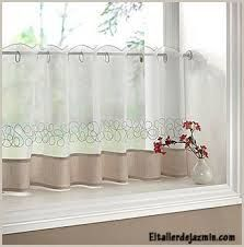 Cortinas Para Cocina Modernas Buscar Con Google Half Window Curtains Curtains Kitchen Curtains