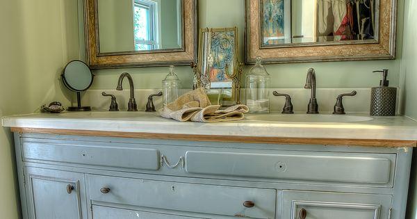 Repurposed Bathroom Ideas: Nice Repurposed Vanity.