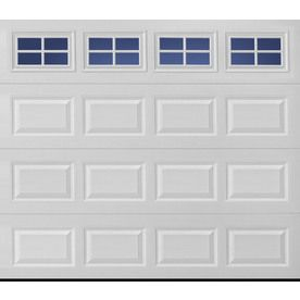 Shop Pella Traditional Series 8 Ft X 7 Ft Insulated White Single Garage Door With Windows At Low White Garage Doors Single Garage Door Garage Door Installation