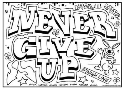 Graffiti Coloring Page Free Printables For Kids To Color Free Graffiti Drawing Coloring Pages For Teenagers Quote Coloring Pages Coloring Pages Inspirational