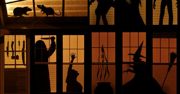 DIY Haunted House Silhouettes. Halloween Silhouettes