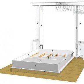 Fabriquer Un Lit Escamotable En Etapes Decoration Et Renovation Pratico Pratique Lit Escamotable Plans De Lit Escamotable Plans De Lit