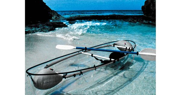 I had no idea this was available! Awesome! The Transparent Canoe Kayak