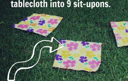 Crafty Texas Girls Craft It Sit Upon Using A Vinyl Tablecloth Girl Scout S