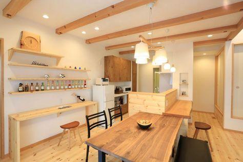 地震に強い家でランニングコストを抑えた暮らし リビング キッチン