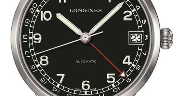 the longines heritage 1938 military 24 hour watch combines a classically styled easy to read. Black Bedroom Furniture Sets. Home Design Ideas