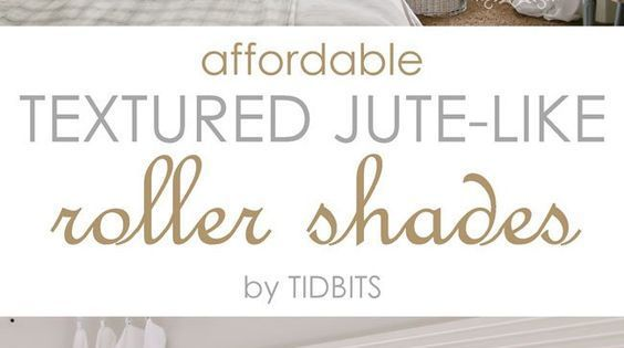 Affordable Textured Jute-like Roller Shades