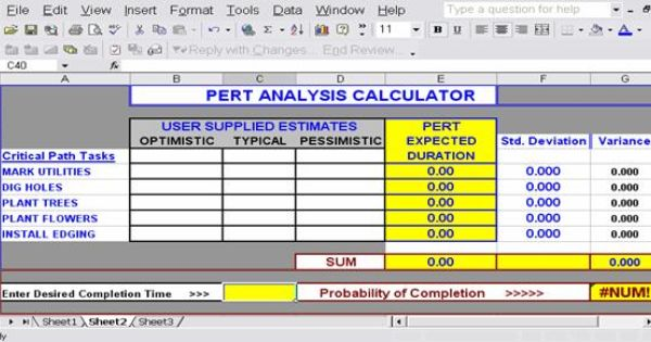 Pert Cpm Chart Template For Excel Excel Templates Project