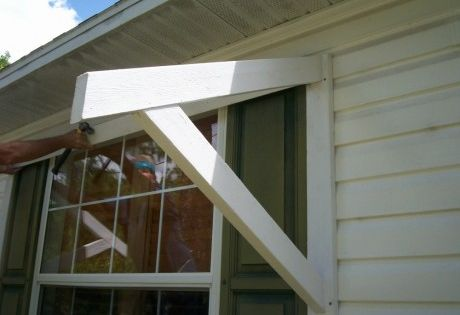 Diy Window Awning Wood Bracket Home Projects Pinterest