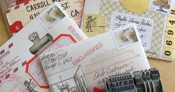 Envelope art by Donovan Beeson. Detail: manila tag as address label (envelope