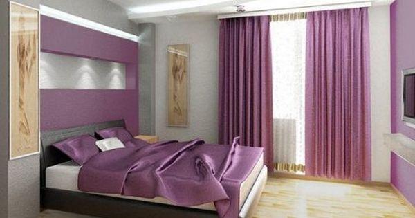 Gris y lila combinaci n de colores pinterest - Habitaciones color gris ...