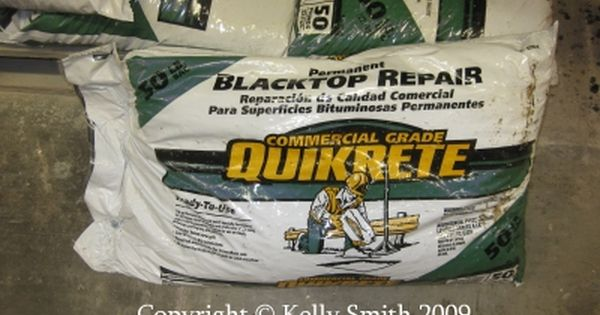 A Bag Of Quikrete Blacktop Repair Compound Asphalt Repair Repair Patches