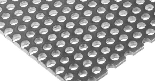 A36 Steel Perforated Sheet Unpolished Mill Finish Hot Rolled Staggered 0 125 Holes Astm A36 0 12 Thickness 11 Gauge Perforated It Is Finished Sheet