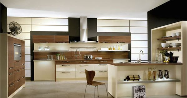 Contemporary Kitchen Wood Veneer Lacquered Primo 794 Nobilia Chaise Design Design Et Bureau Rose