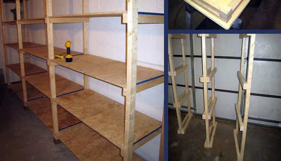 Diy basement garage shelves with step by step instructions for Basement access from garage