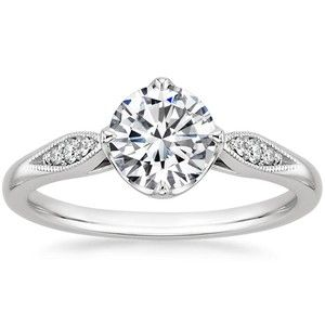 18k White Gold Jolie Diamond Ring Top 10 Engagement Rings Antique Style Engagement Rings Diamond Engagement Ring Set