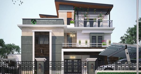 Proposed 5 Bedroom Contemporary Duplex In Gambia It Has A Swimming Pool And Gazebo Behind For Inquiries Duplex House Design House Styles House Design