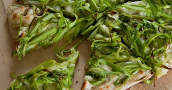 Shaved Asparagus Pizza with Fresh Lemon | Pizza, Sammies, Burgers ...