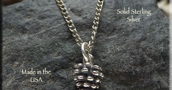 Pine Cone sterling silver charm .925 x 1 Pines Cones charms SSSC558A