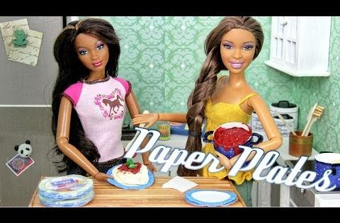 How To Make Doll Paper Plates Plus Fun Finds Youtube Barbie My Froggy Tutorials