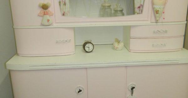 k chenbuffet mit vitrine oma s k chenschrank s von. Black Bedroom Furniture Sets. Home Design Ideas